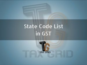 State code list in gst