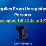 Supplies from unregistered persons
