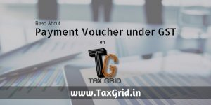 Payment Voucher under GST